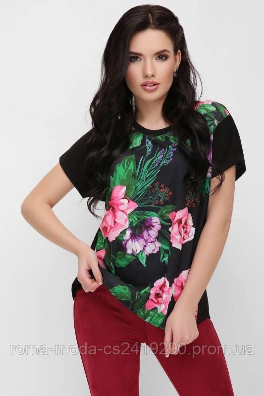 "Женская футболка черная ""Air"" FB-1614D1 размеры 42-56"