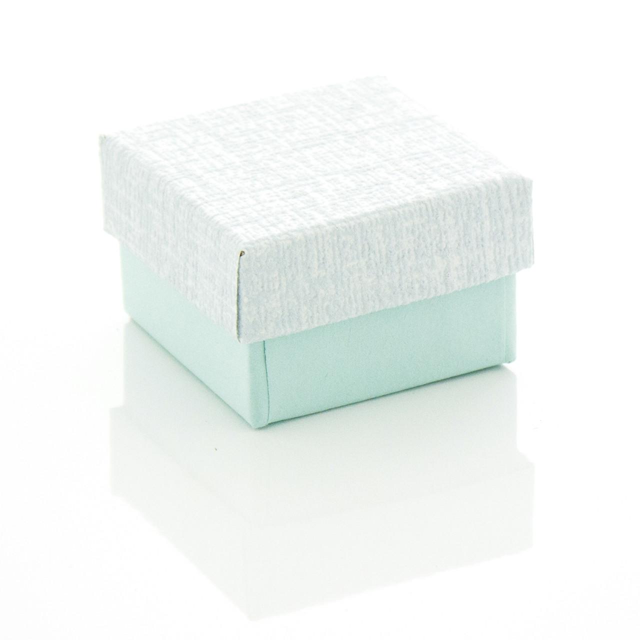 Подарочная коробочка под бижутерию нежных пастельных цветов 4 х 4 х 2.5 см Мятная