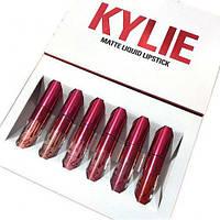 Набор жидких матовых помад 6 в 1 Kylie 8626 Valentine Edition