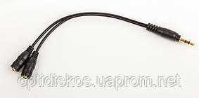 Разветвитель для наушников 3.5m/out 2x3.5, черный, фото 2