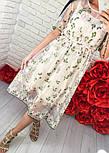 Женское платье-двойка с цветочным принтом (2 цвета), фото 2