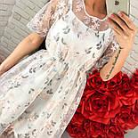 Женское платье-двойка с цветочным принтом (2 цвета), фото 5