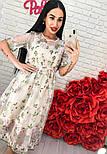 Женское платье-двойка с цветочным принтом (2 цвета), фото 7