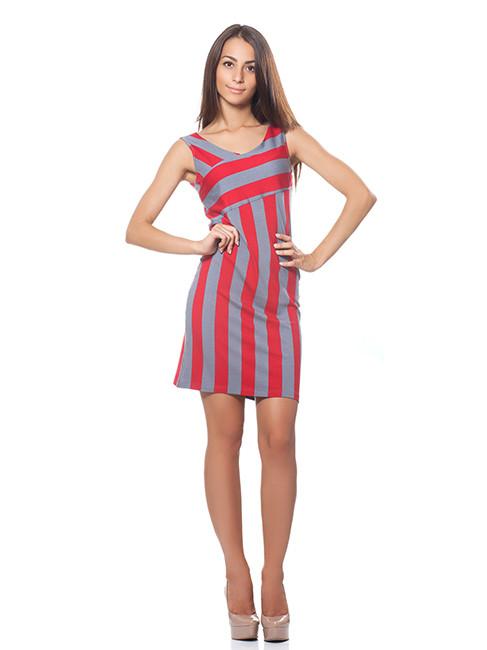 Короткое платье в полоску (размеры XS-L)