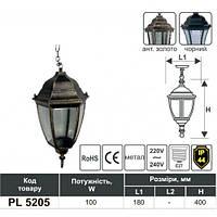LED Светильник садово-парковый LEMANSO PL5205 ант.золото, чёрный 100W (цепь)