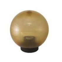 Светильник садово-парковый LEMANSO PL2102 (шар) 150мм золотой призм. Е27
