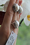 Серебряный комплект украшений 925 пробы с жемчугом, фото 3