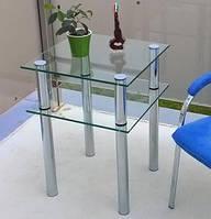 Столик стеклянный журнальный. Стекляный стол.