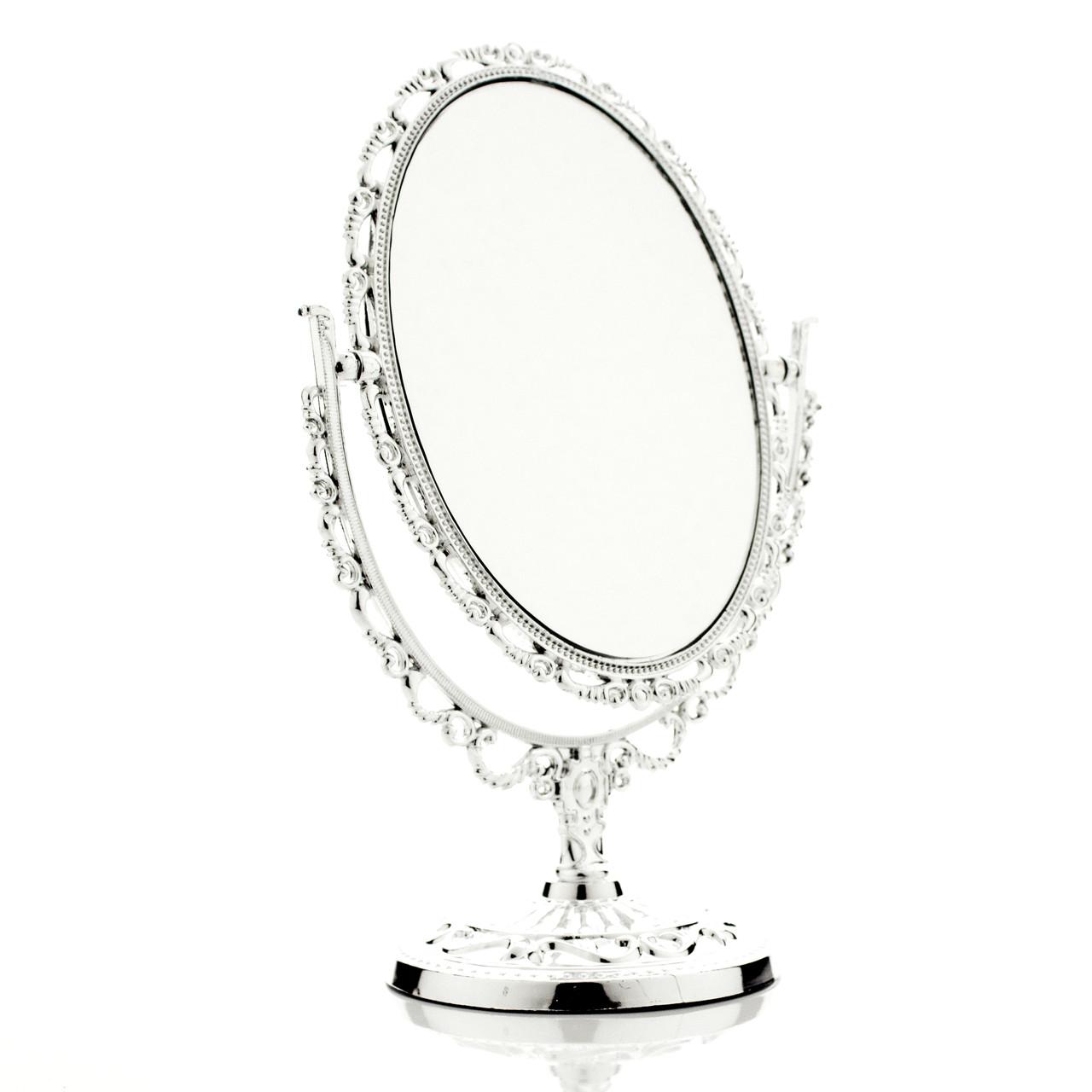 Настольное зеркало для макияжа овальное Silver