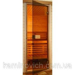 Дверь для бани и сауны Saunax 70х200 (бронза)