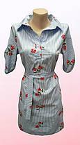 Молодежное платье в полоску с вышивкой (0905/13)