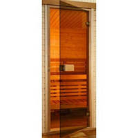 Дверь для бани и сауны Saunax 70х190 (бронза)