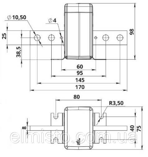 Габаритные, установочные и присоединительные размерытрансформаторов тока ТОПН-0,66600/5