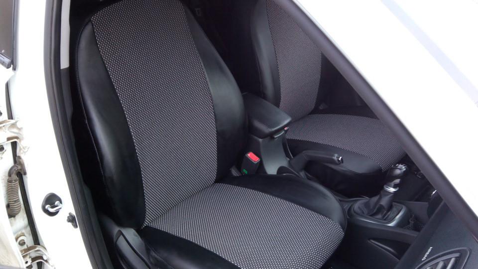Модельные Чехлы на сиденья из Эко-кожи с отдельными подголовниками ВАЗ 2113, 2004-2013 годы выпуска «тринашка»
