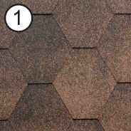 Битумная черепица Roofshield Стандарт №1 (Медный)