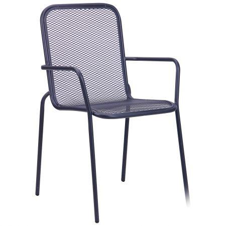 Металлический стул Дижон hy-c096 сталь сетка om-005 темно серый 7547