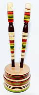 Набор деревянных ручек на подставке со свистком