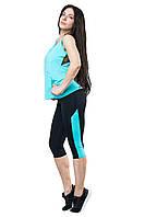 Женский костюм для спорта (42,44,46,48,50) (мята) спортивная одежда для йоги и фитнеса