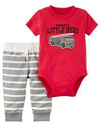 """Набор Carter's для мальчика штанишки и бодик """"Маленький герой"""" 9 мес/67-72 см"""
