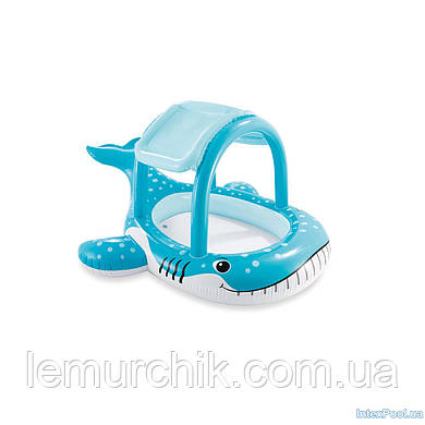 """Детский надувной бассейн Intex """"Детский кит"""" с навесом, 122 х 122 cм"""