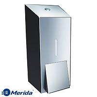 Дозатор жидкого мыла из полированной нержавейки 800 мл. Merida Stella Maxi, Польша, фото 1