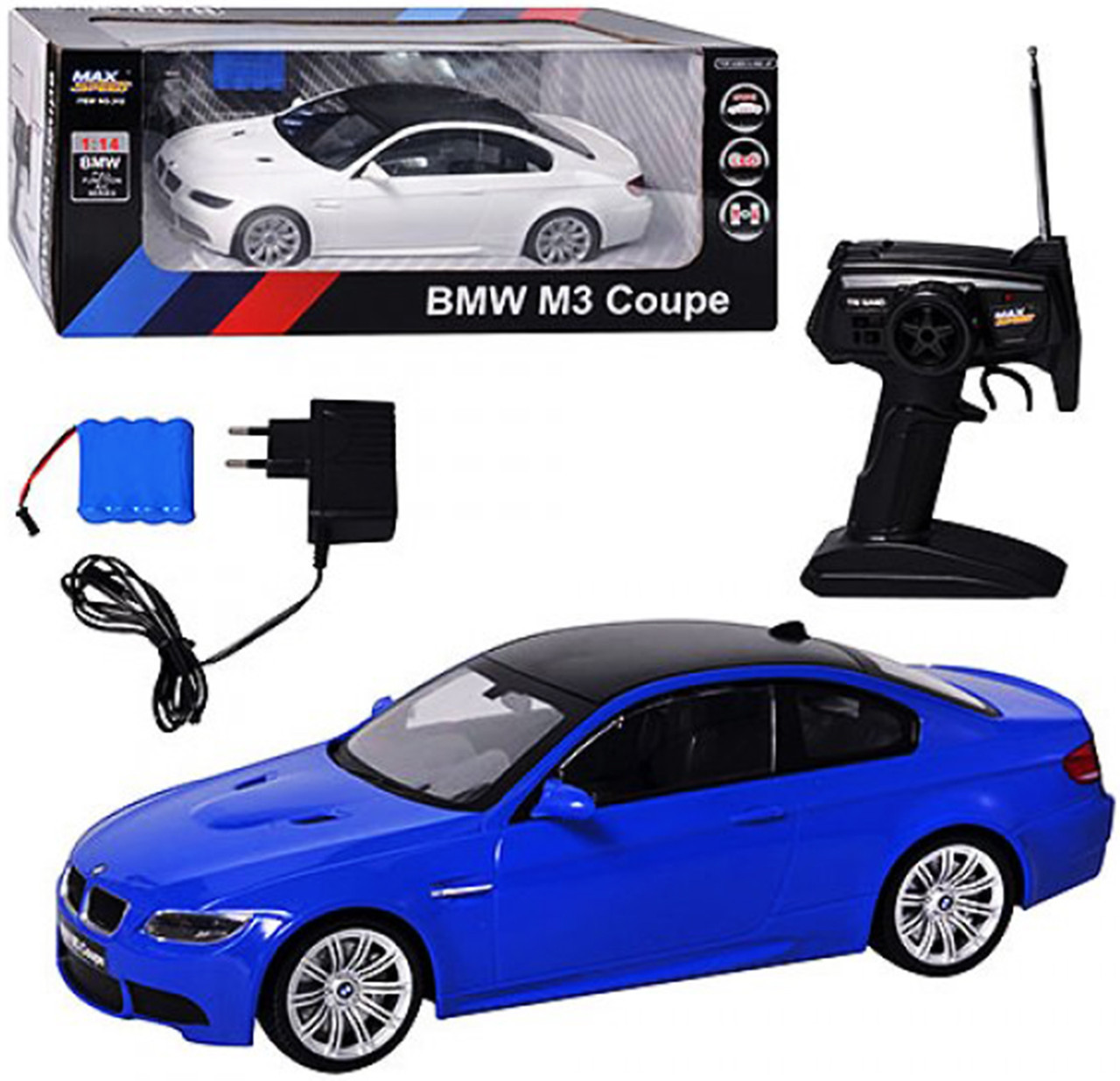 Машина BMW M3 Coupe TG 312 радіокерована, на акумуляторі, в коробці, 47 см (Синя) 1:14