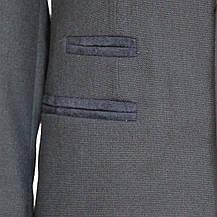 """Деловой школьный костюм для мальчика 122-128 рост """"Неаполь"""" серый с налокотниками, фото 3"""