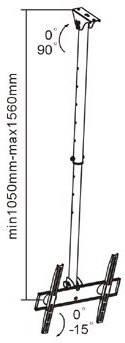 Brateck PLBCE444B - потолочное крепление для телевизора, фото 2