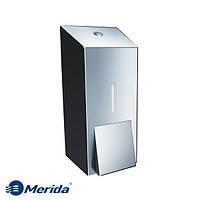Дозатор жидкого мыла из полированной нержавейки 400 мл. Merida Stella Mini, Польша, фото 1