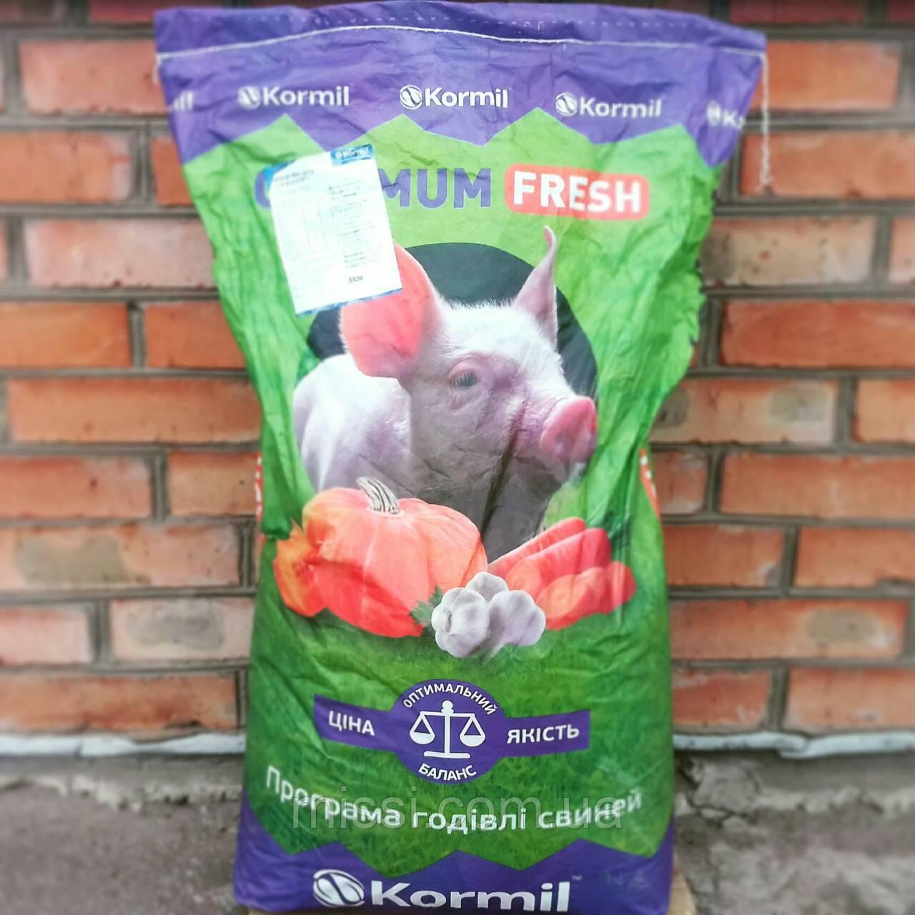 БМВД OPTIMUM fresh Гровер, Фінішер для свиней 10/15% Kormil (мішок 25 кг), Бердичів