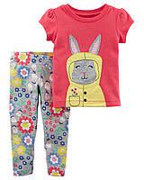 Леггинсы + футболка Carters для девочки 18 мес 78-83 см. Комплект двойка