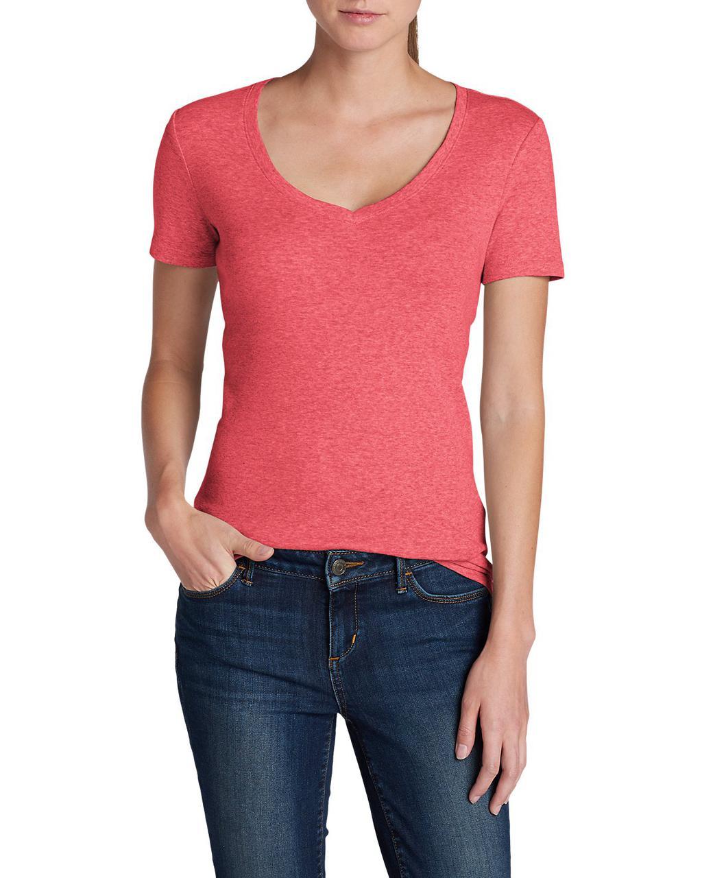 Футболка Eddie Bauer Favorite Short-Sleeve V-Neck T-Shirt XS