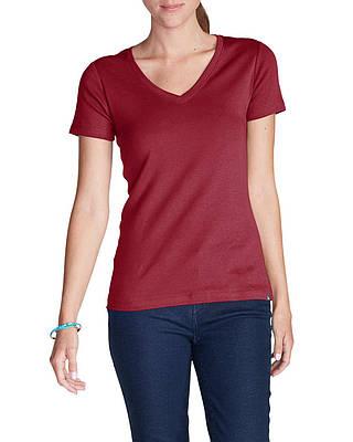 Футболка Eddie Bauer Favorite Short-Sleeve V-Neck T-Shirt