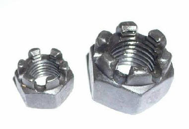 Гайка корончатая М6 ГОСТ 5918-70, DIN 935 из нержавеющей стали А2 и А4