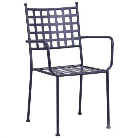 Металлический стул Руан hy-c162 сталь сетка темно серый 7547