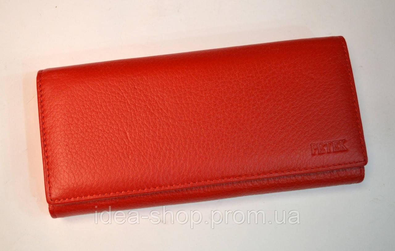 898d11978514 Большой женский кошелек красный PETEK - интернет-магазин
