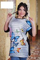 Туника с бабочками батал  р7328, фото 1