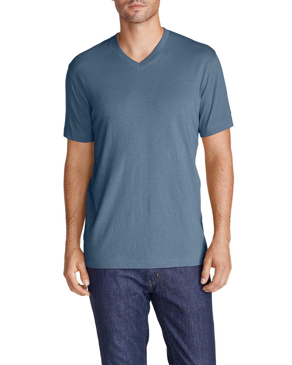 Футболка Eddie Bauer Legend Wash Short-Sleeve V-Neck T-Shirt L
