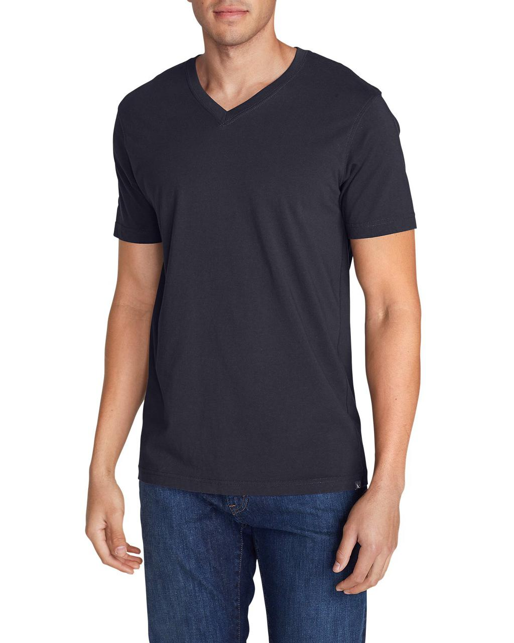 Футболка Eddie Bauer Legend Wash Short-Sleeve V-Neck T-Shirt - Classic Fit