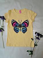 Желтая футболка с бабочкой (DaSilva, Турция)