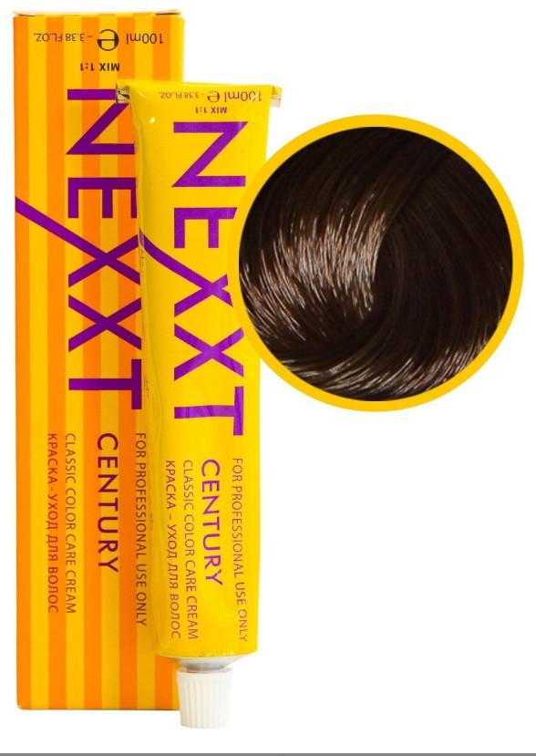 Крем-краска для волос Nexxt Professional 5.77 светлый шатен насыщенный коричневый, 100 мл.