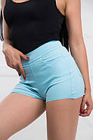 Женские короткие шорты с молнией сзади, фото 1