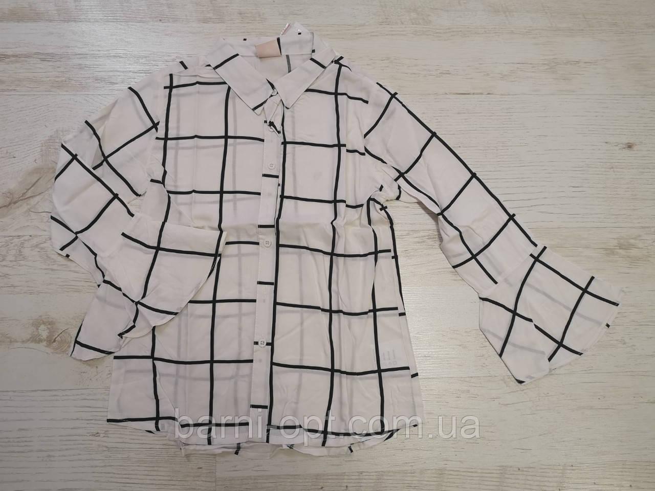 Котоновые рубашки на девочек оптом, Glo-story, 110-160 рр