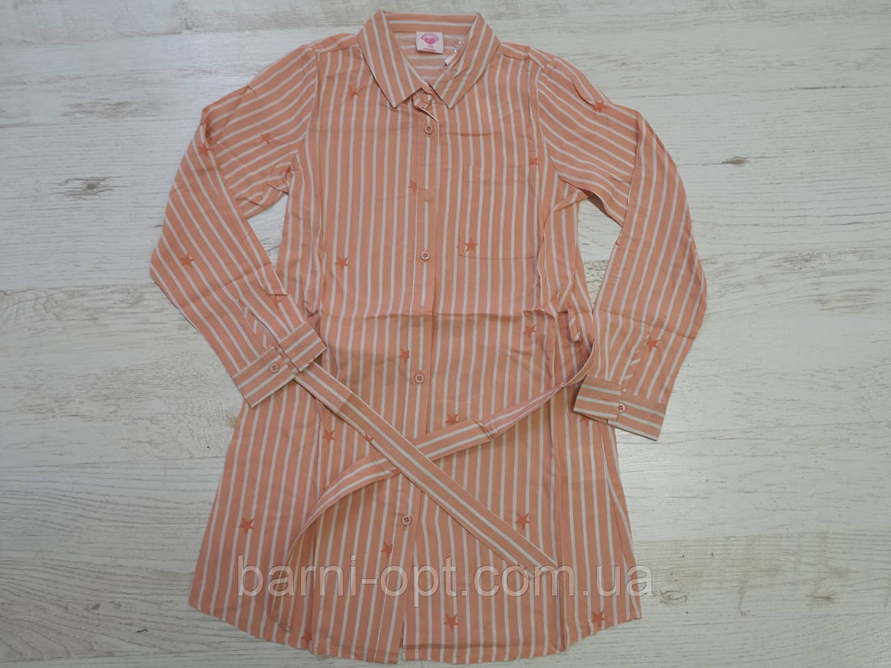 Котоновые рубашки-туники на девочек оптом, Glo-story, 110-160 рр