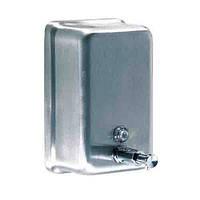 Дозатор мыла жидкого вертикальный нержав. сатин 1,2л