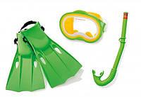 55955 Набор маска+трубка+ласты от 8лет, Детский набор для дайвинга, Набор для плавания для детей и взрослых