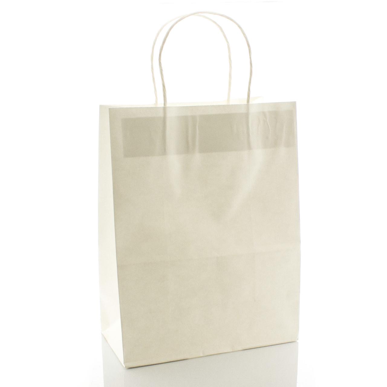 Подарочный пакет бумажный белый 21 х 27 х 11 см