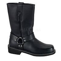 """Шкіряні черевики Demonia HARNESS BOOT  2"""" Heel HAR/B/LE (чоловічий розмір (US (M))"""