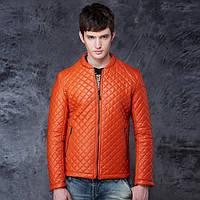 Мужская стеганая куртка кожзам Flashback