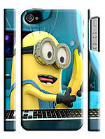 Чехол для iPhone 4/4s/5/5s/5с Гадкий Я миньон с бананом